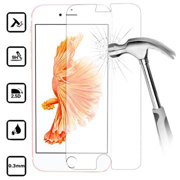 iPhone 7 / iPhone 8 Tempered Glass Screen Protector - 9H, 0.3mm - Crystal Clear