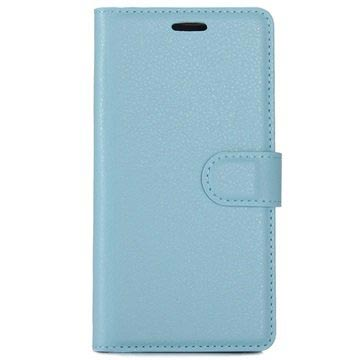 Huawei P10 Textured Wallet Case - Blue