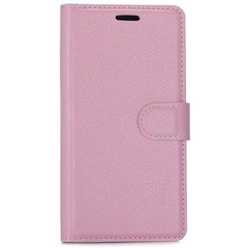 Huawei P10 Textured Wallet Case - Pink