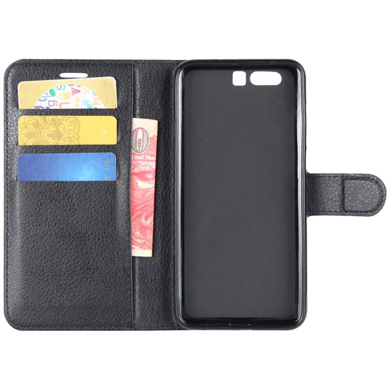 Huawei Honor 9 Textured Wallet Case - Black