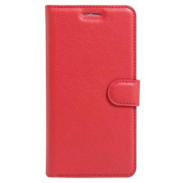Huawei Honor 8 Textured Wallet Case - Red