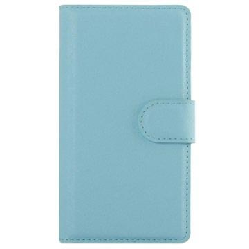 Sony Xperia Z5 Compact Textured Wallet Case - Baby Blue