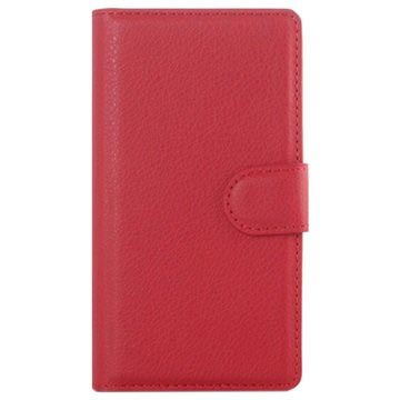 Sony Xperia Z5 Compact Textured Wallet Case - Red