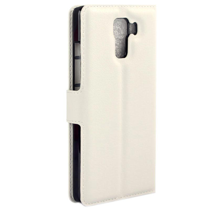 Huawei Honor 7 Textured Wallet Case - White