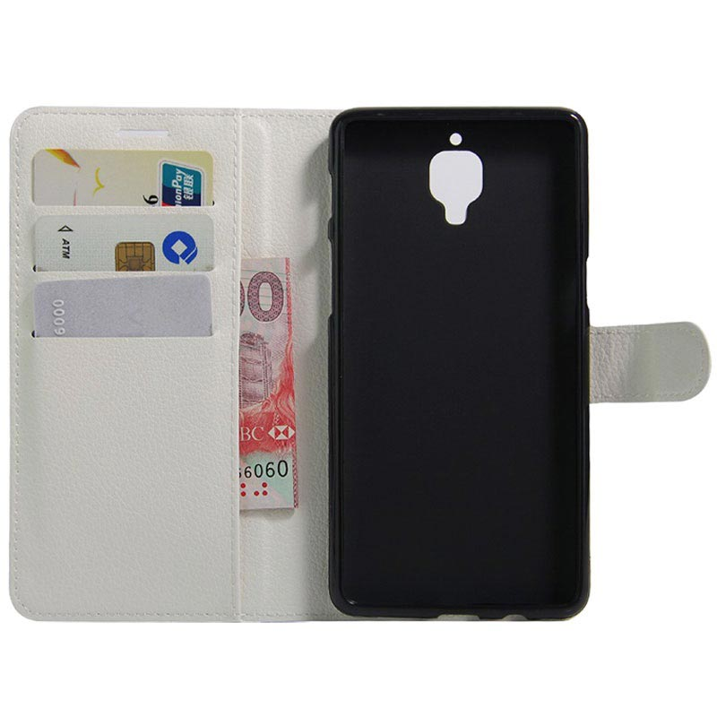 OnePlus 3/3T Textured Wallet Case - White