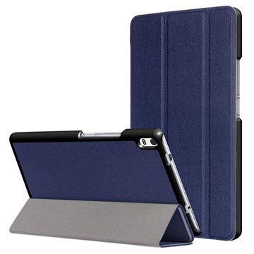 Lenovo Tab 4 8 Plus Tri-Fold Smart Folio Case - Dark Blue