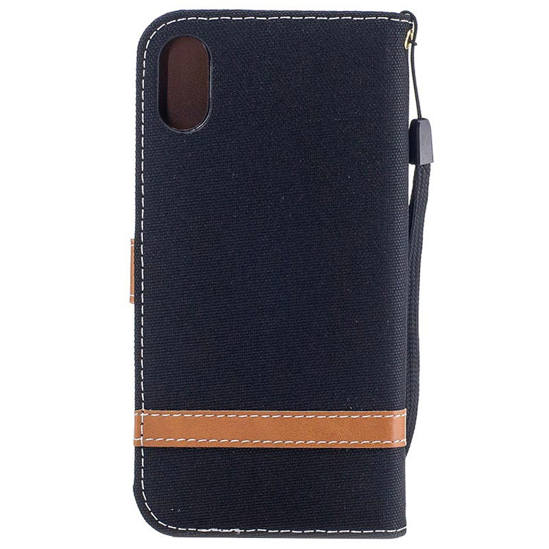 iPhone X / iPhone XS Two-Tone Jeans Wallet Case