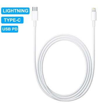 USB PD Type-C/Lightning Charge & Sync Cable - 1m - White