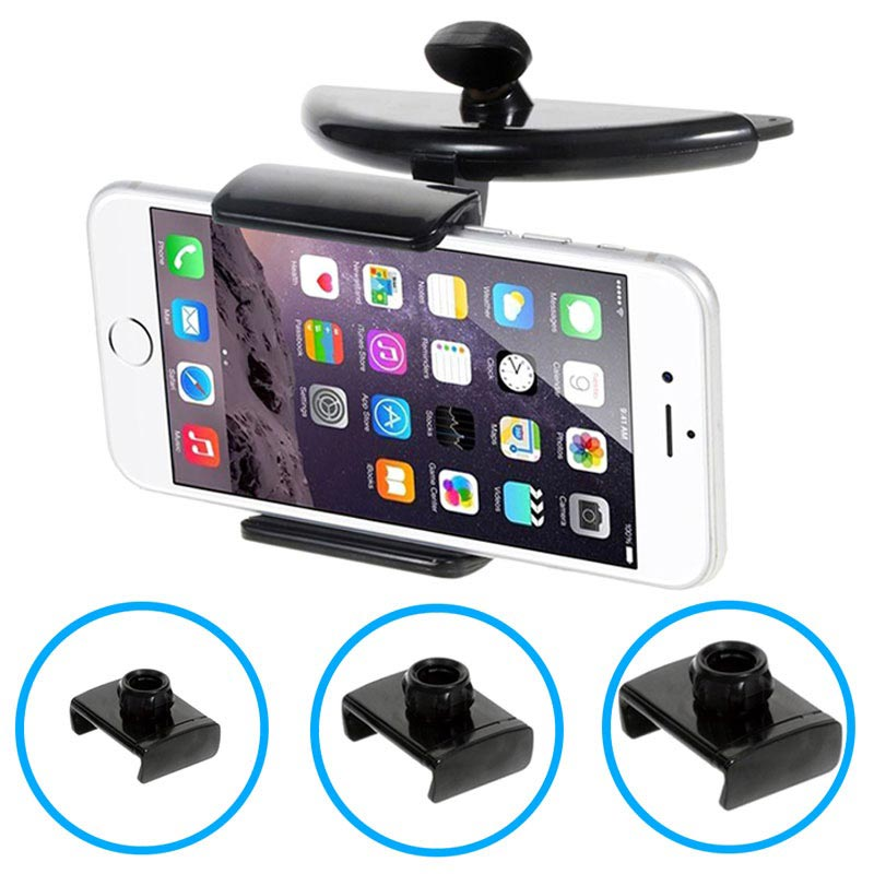 Smartphone, Tablet Universal 3-in-1 CD/DVD Slot Car Holder