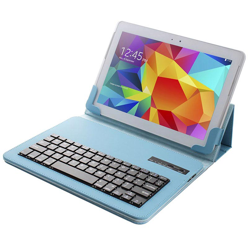 "Universal Tablet Bluetooth Keyboard & Leather Case - 10.1"" - Blue"