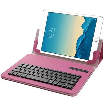 "Universal Tablet Bluetooth Keyboard & Leather Case - 10.1"" - Hot Pink"