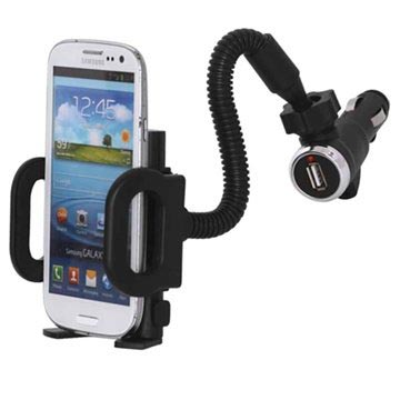 Universal Smartphone Car Holder & USB Car Charger