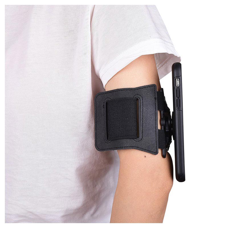 Universal Quick Lock Magnetic Sports Armband - Black