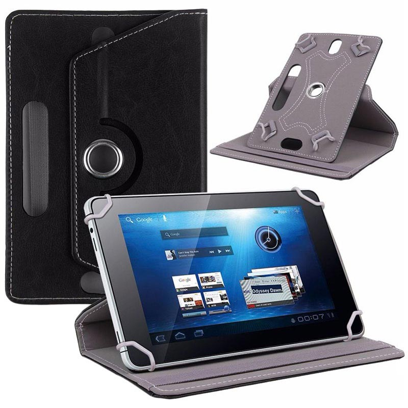 "Universal Rotary Folio Case for Tablets - 7.9""-8.4"" - Black"