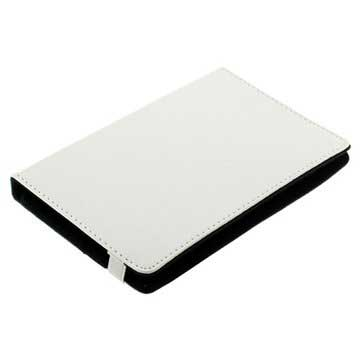 "Universal Tablet Book Style Leather Case - 7"" - White"