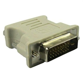 DVI 24+1-Pin Male to VGA 15-Pin Female Adapter