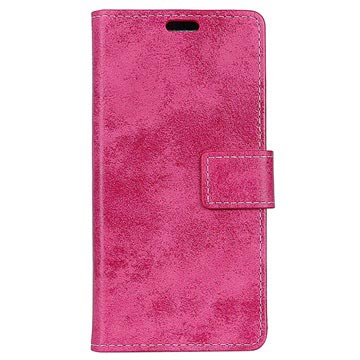 Huawei Mate 10 Pro Vintage Series Wallet Case - Hot Pink