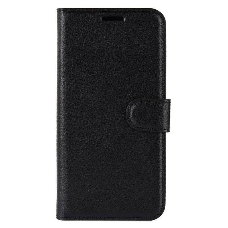 HTC U12+ Wallet Case with Magnetic Closure - Black