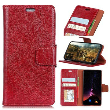 Huawei Honor 9 Lite Flip case with Card Slots - Red