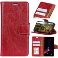 Samsung Galaxy S9 Wallet Case with Kickstand Feature - Red