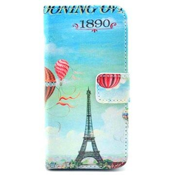 iPhone 5 / 5S / SE Wallet Leather Case - Paris