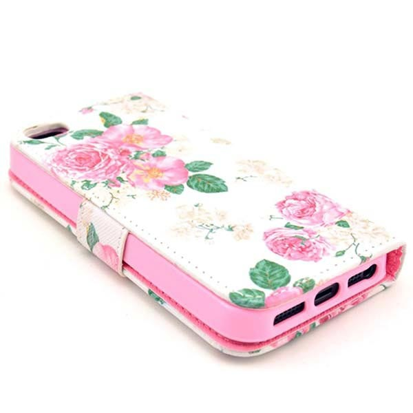 iPhone 5 / 5S / SE Wallet Case - Roses