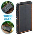 Waterproof Solar Power Bank with Dual USB - 10000mAh - Orange / Black