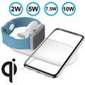 Fast Qi Wireless Charging Pad W22 - 10W - White