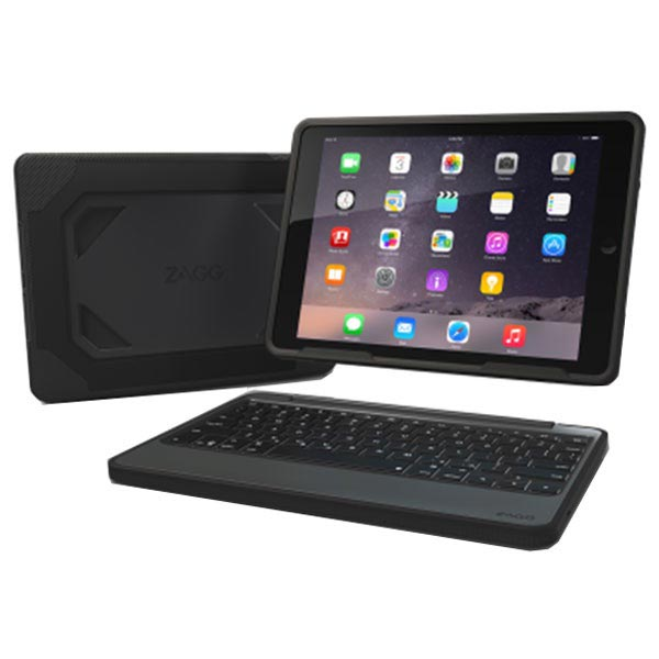 iPad Air 2 ZAGG Rugged Book Bluetooth Keyboard Case - French Layout - AZERTY