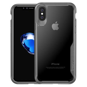 iPhone X / iPhone XS iPaky Clear Hybrid Case - Grey / Transparent