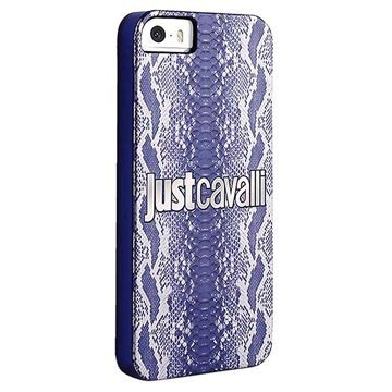 iPhone 5 / 5S / SE Puro Just Cavalli Python Hard Cover - Blue
