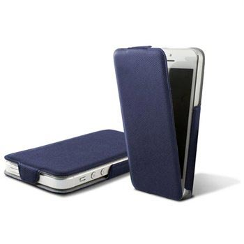 iPhone 5 / 5S / SE Ksix Ultra Slim Flip PU Leather Case - Blue