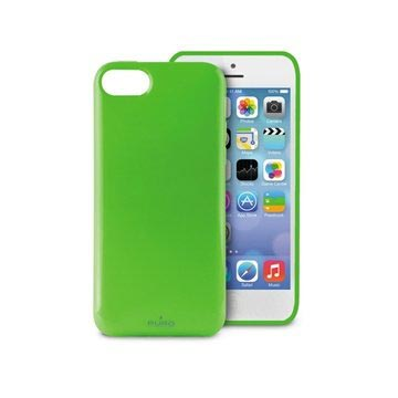iPhone 5C Puro Plasma Silicone Case - Transparent Green