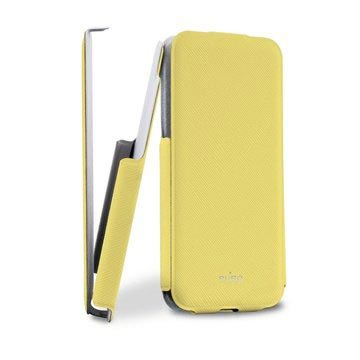 iPhone 5C Puro Ultra Slim Flip Leather Case - Yellow