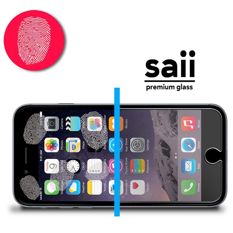 iPhone 6/6S Saii Premium HD Tempered Glass Screen Protector - Clear