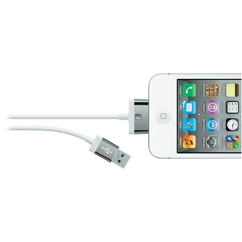Belkin USB / 30-pin Cable - iPhone 4 / 4S, iPhone 3 / 3GS, iPad 3 - White